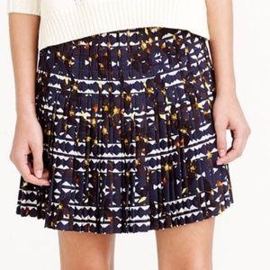 🌴J Crew Pleated Lattice Hidden Floral Skirt